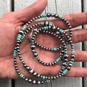 Jewelry - SOLD‼️ Sterling & Kingman Turquoise Desert Pearl